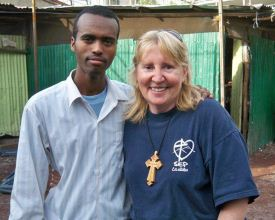 Mary with Melonen, one of the Art students she taught while in Addis Abbaba