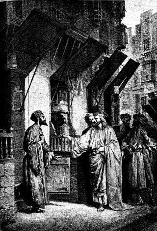 Jesus calling Matthew The call of Matthew illustration by Alexandre Bida