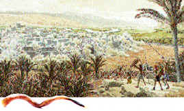 A shofar, and Jericho
