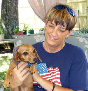 Sue Berger and dog