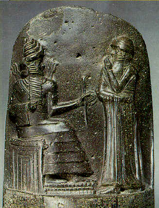 of the famous Law Code Stele of Hammurabi  above  shows Hammurabi    Stele With Law Code Of Hammurabi