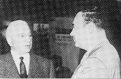old photo of Herbert Armstrong and Joseph Tkach, Sr.
