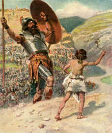David and Goliath, by James Tissot